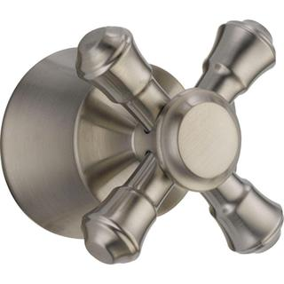 Delta Cassidy Tub and Shower Faucet Metal Cross Handle in Stainless H795SS