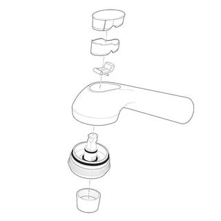 Delta Gourmet Pull-out Kitchen Faucet Spray Assembly in White RP21547WH