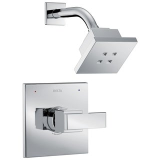 Delta Ara 1-Handle Shower Faucet Trim Kit in Chrome Featuring H2Okinetic (Valve Not Included) T14267-H2O