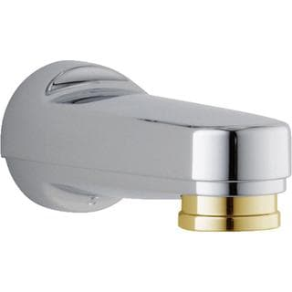 Delta Pull-Down Diverter Tub Spout in Chrome & Polished Brass RP17454CB