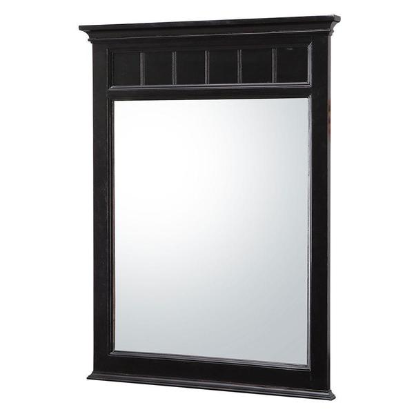 Belle Foret Dunsby 24 in. W x 32 in. H Single Wall Hung Mirror in Espresso
