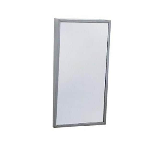 Bobrick 18 in. x 30 in. Tempered Single Fixed Tilted Mirror