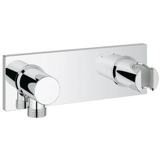Grohe Grohtherm F Wall Mount Union with Integrated Handshower Holder, StarLight Chrome