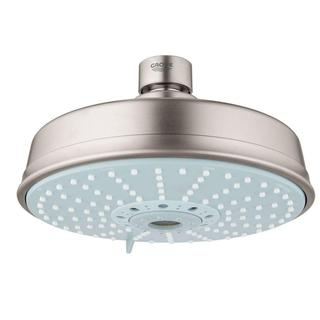 Grohe Rain shower Rustic 6-1/4 inches Showerhead in Brushed Nickel