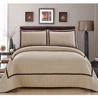 Chic Home 7-Piece Marla Beige Quilt in a Bag Quilt Set