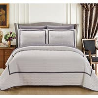 Chic Home 7-Piece Marla White Quilt in a Bag Quilt Set