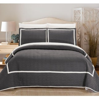 Chic Home 7-Piece Marla Grey Quilt in a Bag Quilt Set (2 options available)