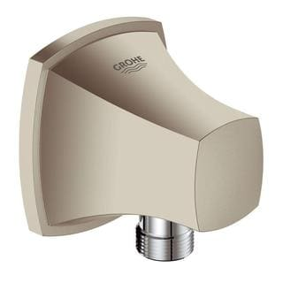 Grohe Grandera 1/2 inches NPT Threads 1-Hole Wall Mount Wall Union in Brushed Nickel InfinityFinish