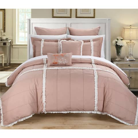 Chic Home Legenda Pink 11-Piece Bed in a Bag Comforter Set