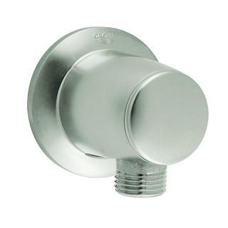Grohe Movario Wall Union in Infinity Brushed Nickel for Grohe Shower Hoses