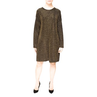 Bluberry Lurex Women's Black Long-sleeved Dress (2 options available)