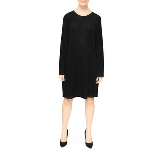Bluberry Lurex Women's Black Long-sleeved Dress