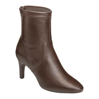 Women's Aerosoles Excess Ankle Boot Brown Faux Leather