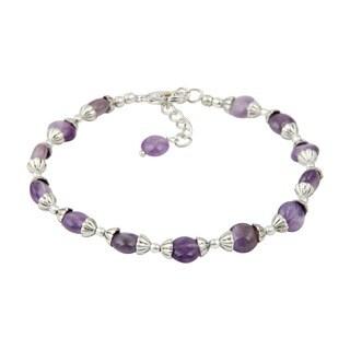 Pearlz Ocean Reason of Talk Amethyst 8 Inches Gemstone Trendy Bracelet Jewelry for Women