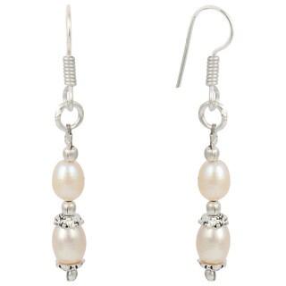 Pearlz Ocean Orange Cultured Freshwater Pearl Dangle Trendy Earrings Jewelry for Women