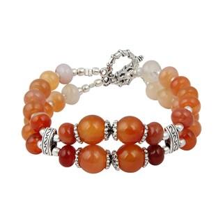 Pearlz Ocean Meticulous Carnelian 7.5 Inches Gemstone Trendy Bracelet Jewelry for Women