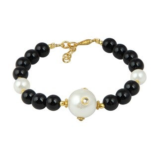Pearlz Ocean Marvelous 7 Inches Cultured Freshwater Pearl Trendy Bracelet Jewelry for Women