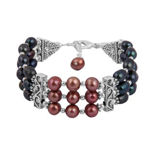 Pearlz Ocean Lovely 7 Inches Cultured Freshwater Pearl Trendy Bracelet Jewelry for Women