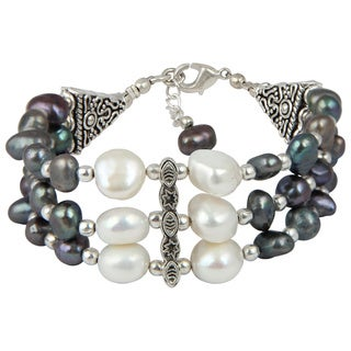 Pearlz Ocean Good Looking 7 Inches Cultured Freshwater Pearl Trendy Bracelet Jewelry for Women