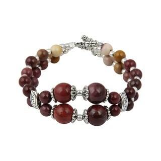 Pearlz Ocean Amazing Mookaite 7.5 Inches Gemstone Trendy Bracelet Jewelry for Women