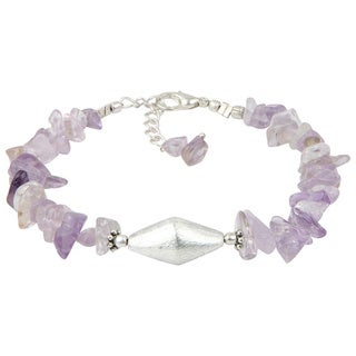 Pearlz Ocean Amethyst 8 Inches Gemstone Trendy Bracelet Jewelry for Women
