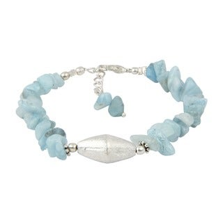 Pearlz Ocean Attractive Aquamarine Chips 8 Inches Gemstone Trendy Bracelet Jewelry for Women