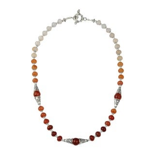 Pearlz Ocean Dazzling Carnelian Gemstone Beads 20 Inches Trendy Necklace Jewelry for Women