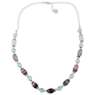 Pearlz Ocean Captivating Green Fluorite Gemstone Beads 18 Inches Trendy Necklace Jewelry for Women