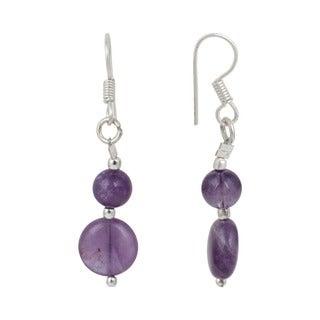 Pearlz Ocean Amethyst Gemstone Beads Trendy Earrings Jewelry for Women