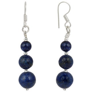 Pearlz Ocean Dyed Lapis Lazuli Gemstone Beads Trendy Earrings for Women