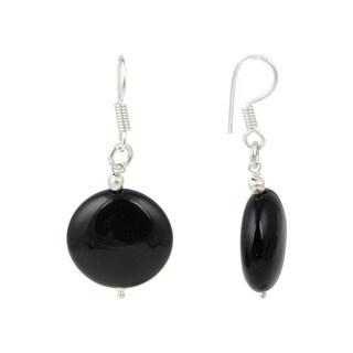 Pearlz Ocean Black Agate Gemstone Beads Trendy Earrings Jewelry for Women
