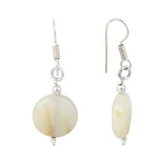 Pearlz Ocean Peach Moon Stone Gemstone Beads Trendy Earrings Jewelry for Women - Orange