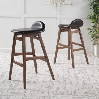 Christopher Knight Home Moria Wood Finish Bar Stool (Set of 2)