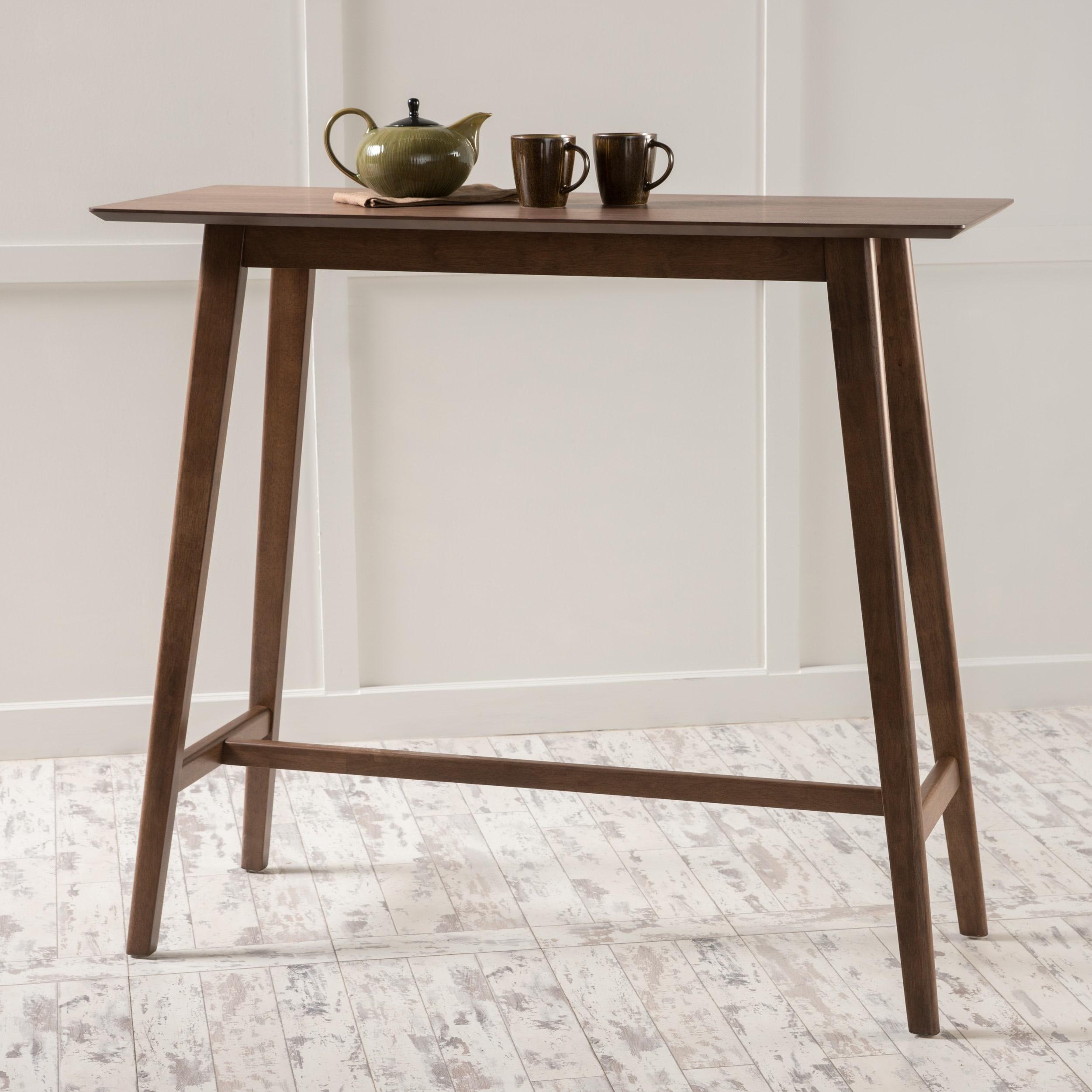 Shop carson carrington viborg walnut finish wood bar table free shipping on orders over 45 overstock com 12882165