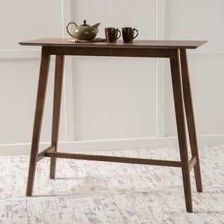 moria walnut finish wood bar table by christopher knight