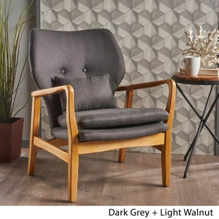 Mid Century Haddie Fabric Club Chair by Christopher Knight Home