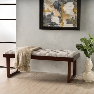 Bayer Tufted Fabric Ottoman Bench  by Christopher Knight Home