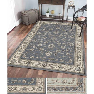 Admire Home Living Multicolor Olefin Floral Area Rug (3'3 x 4'11)