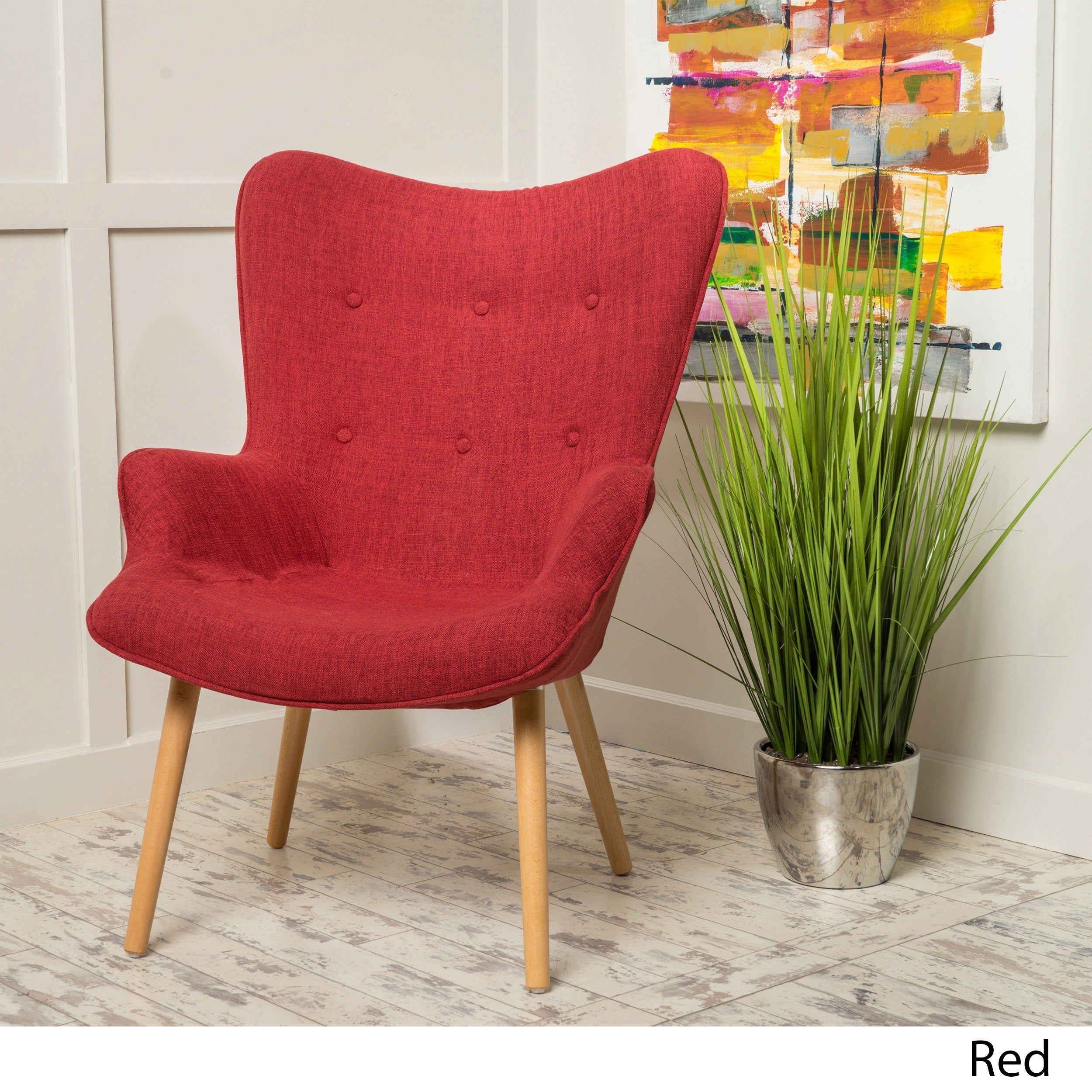 Wonderful Fayola Mid Century Fabric Accent Chair By Christopher