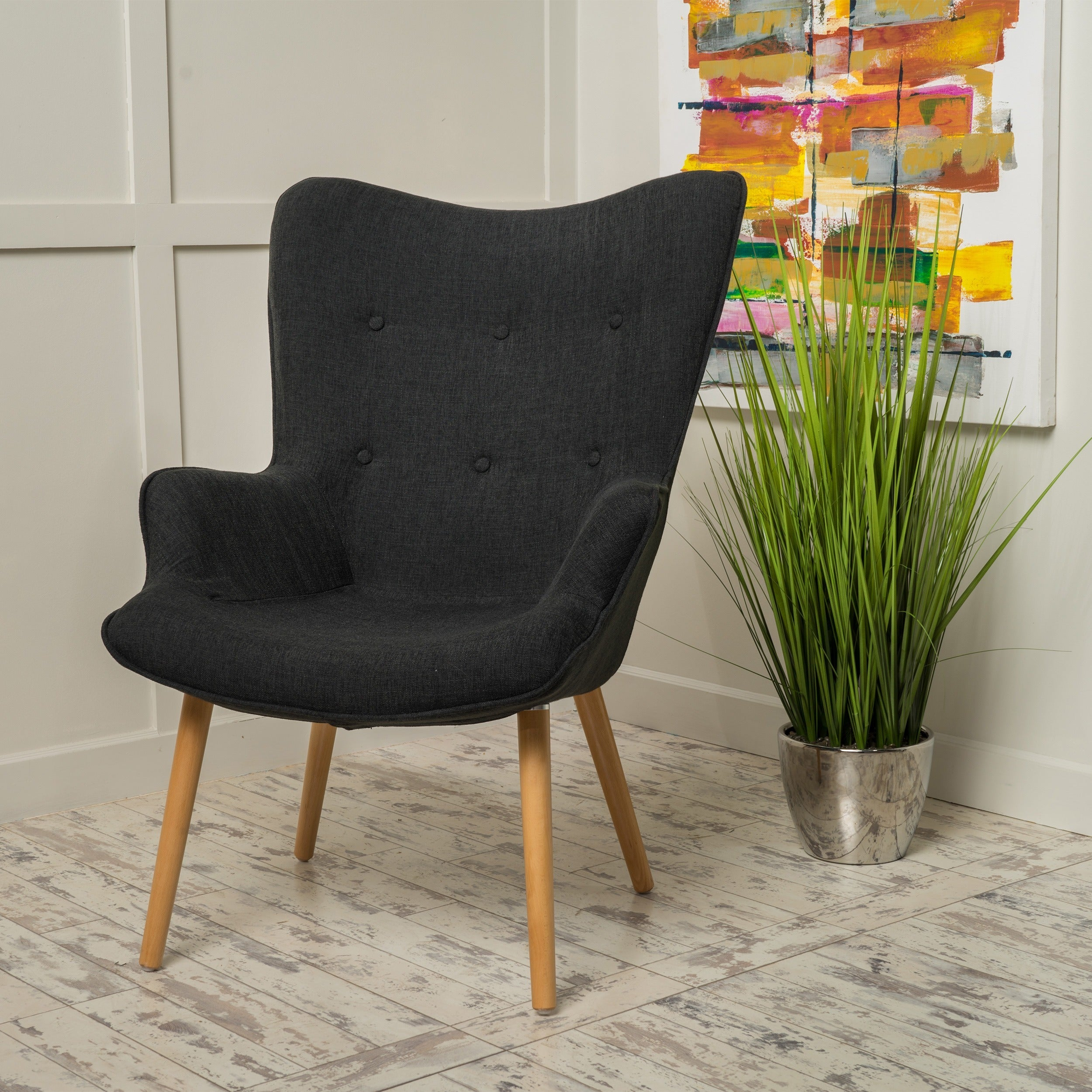Fayola Mid Century Fabric Accent Chair By Christopher