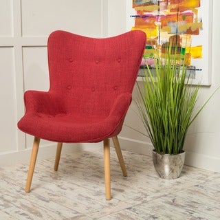 Fayola Mid-Century Fabric Accent Chair by Christopher Knight Home