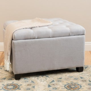Kane Tufted Button Storage Ottoman by Christopher Knight Home