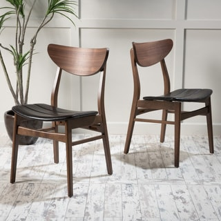 Link to Anise Leather Dining Chair (Set of 2) by Christopher Knight Home Similar Items in Dining Room & Bar Furniture