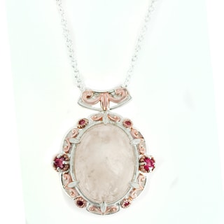 One-of-a-kind Michael Valitutti Morganite with Rubellite and Pink Diamond Pendant