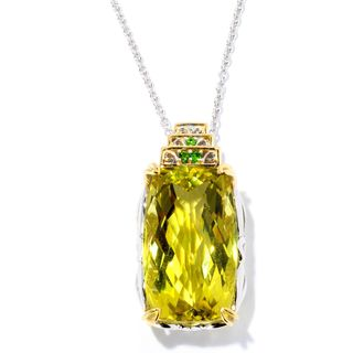 One-of-a-kind Michael Valitutti Ouro Verde and Chrome Diopside Pendant