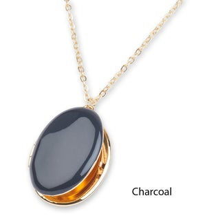 """Mint Jules Enamel Oval Picture Locket 24-26"""" Necklace - 24 to 26"""""""