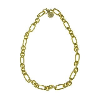 Isla Simone - 18 Karat Gold Electro Plated Oval And Round Link Necklace