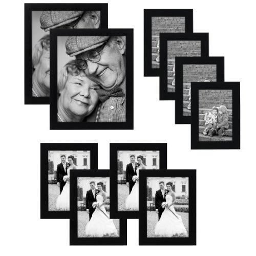 Shop 10 Piece Multi Pack Black Picture Frame Value Set With Frames