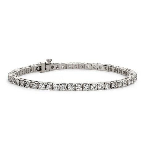 Suzy Levian 5.00 ct TDW 14K White Gold Diamond Tennis Bracelet (J-K, SI3-I1)