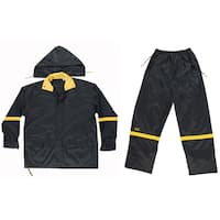 CLC Work Gear R1032X Black Nylon Rain Suit Set